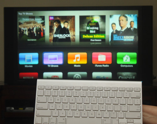 Wireless Keyboard Controls Apple TV
