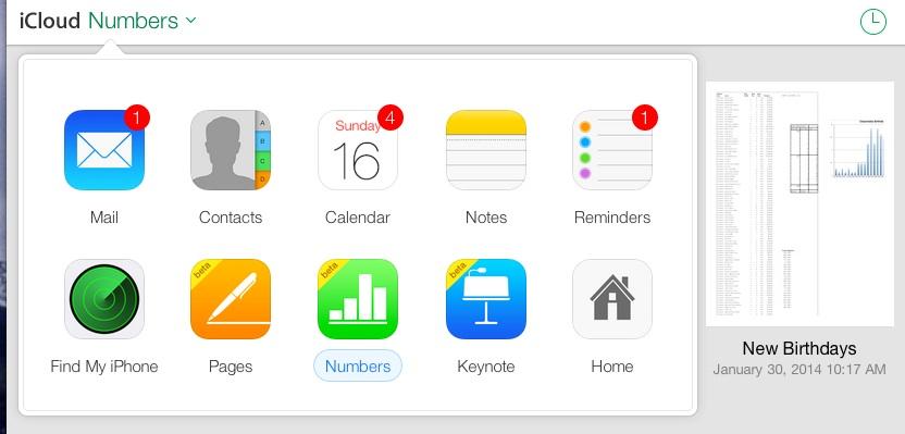 iCloud On-Line Apps