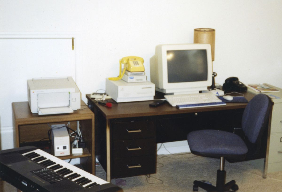 Computer Equipment on Desk